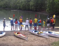 Skills training at Sutherland Shire Canoe Club